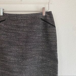 VINCE CAMUTO gray black textured pencil skirt